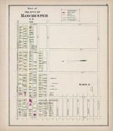 Manchester - Ward 6B, New Hampshire State Atlas 1892 Uncolored
